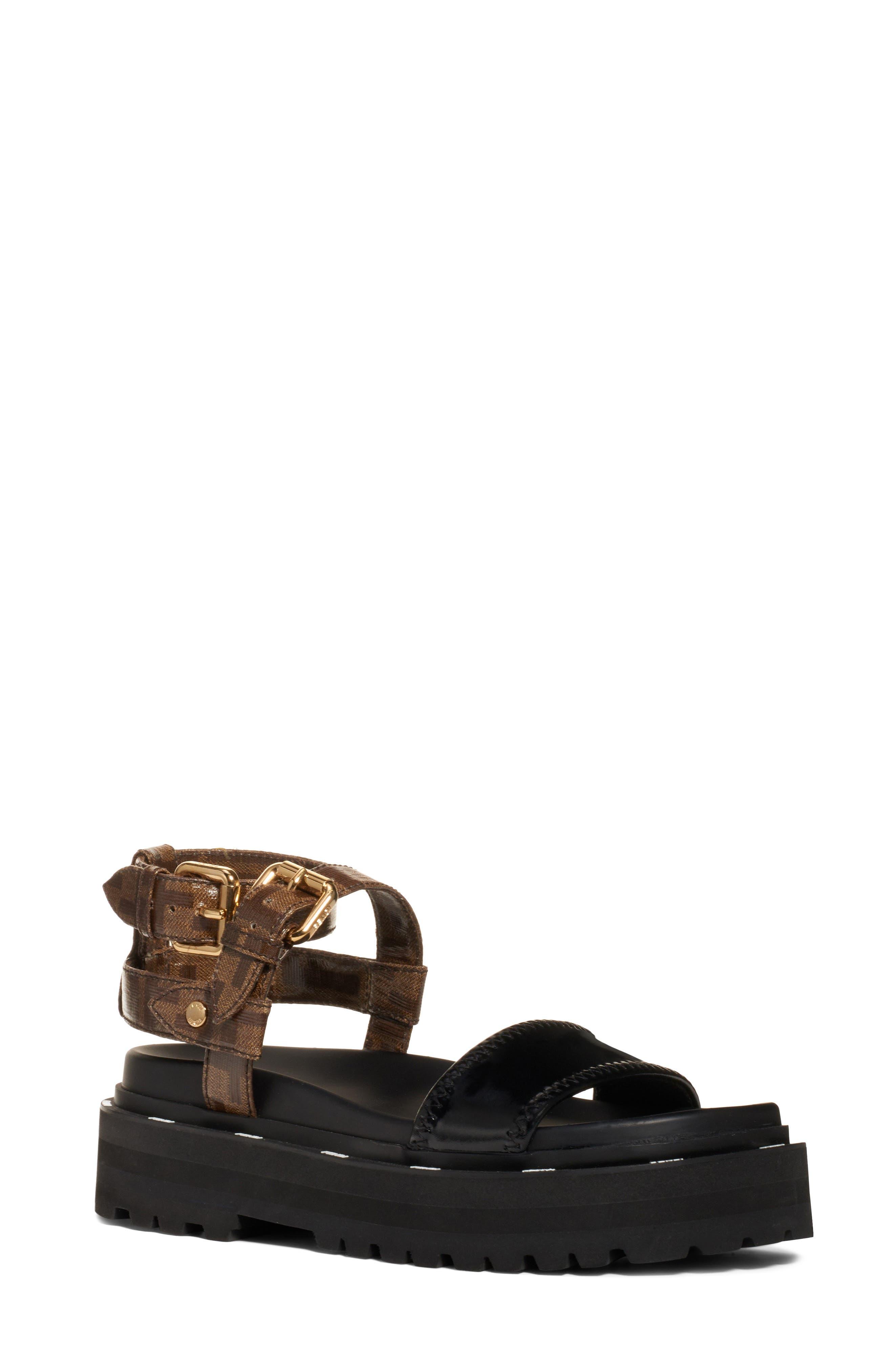 Fendi FF Strappy Platform Sandal (Women