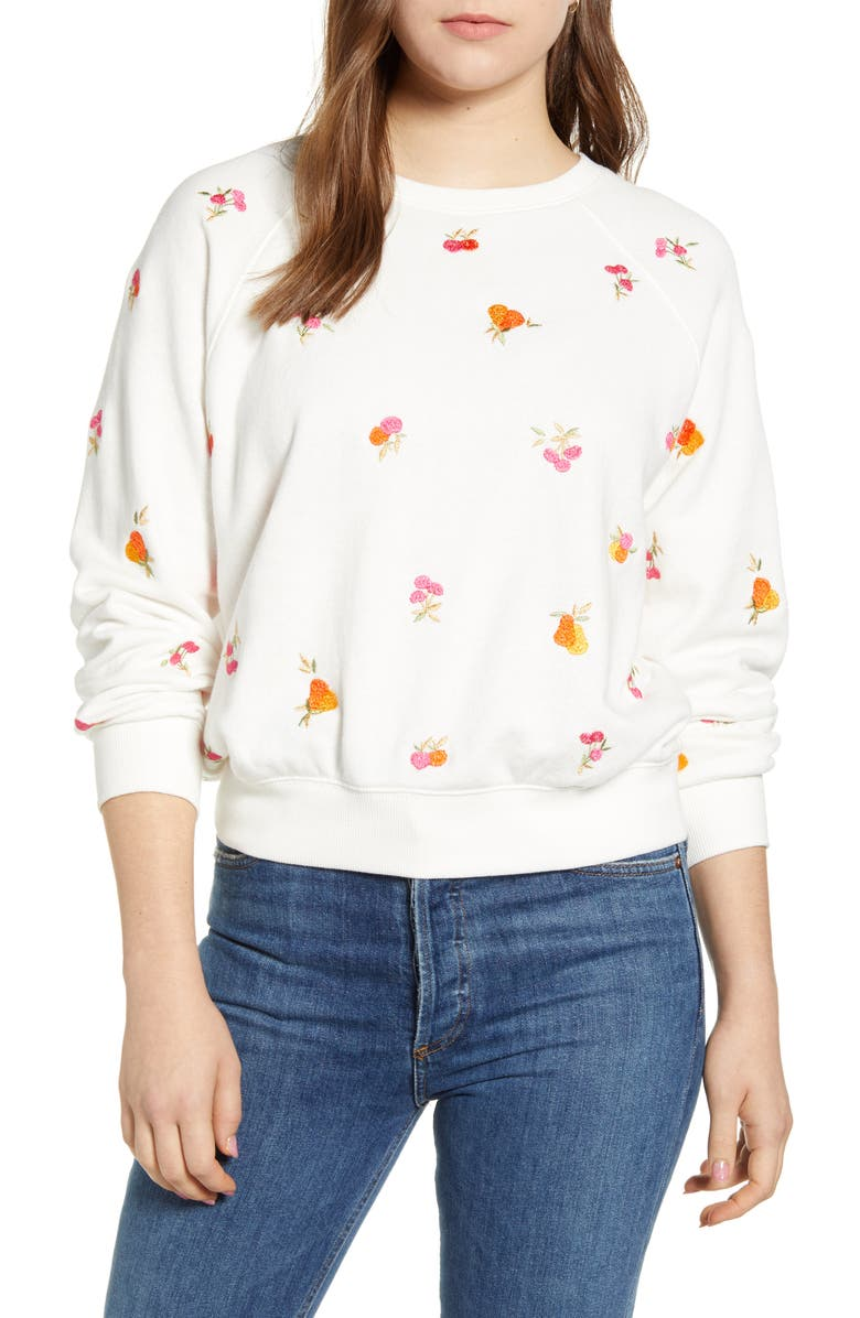LOU & GREY Perry Terry Tropical Sweatshirt, Main, color, 101