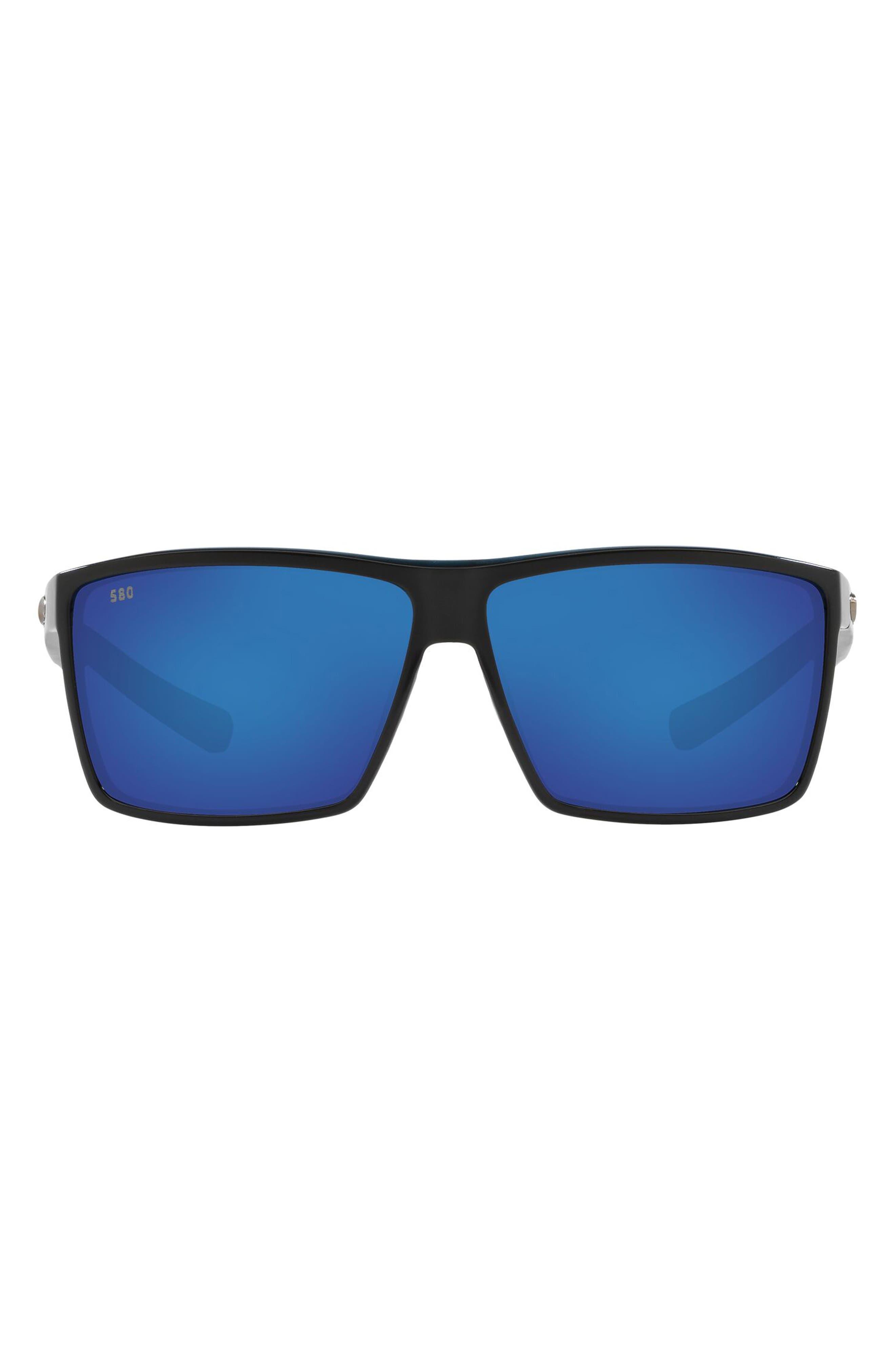 63mm Polarized Oversize Rectangle Sunglasses
