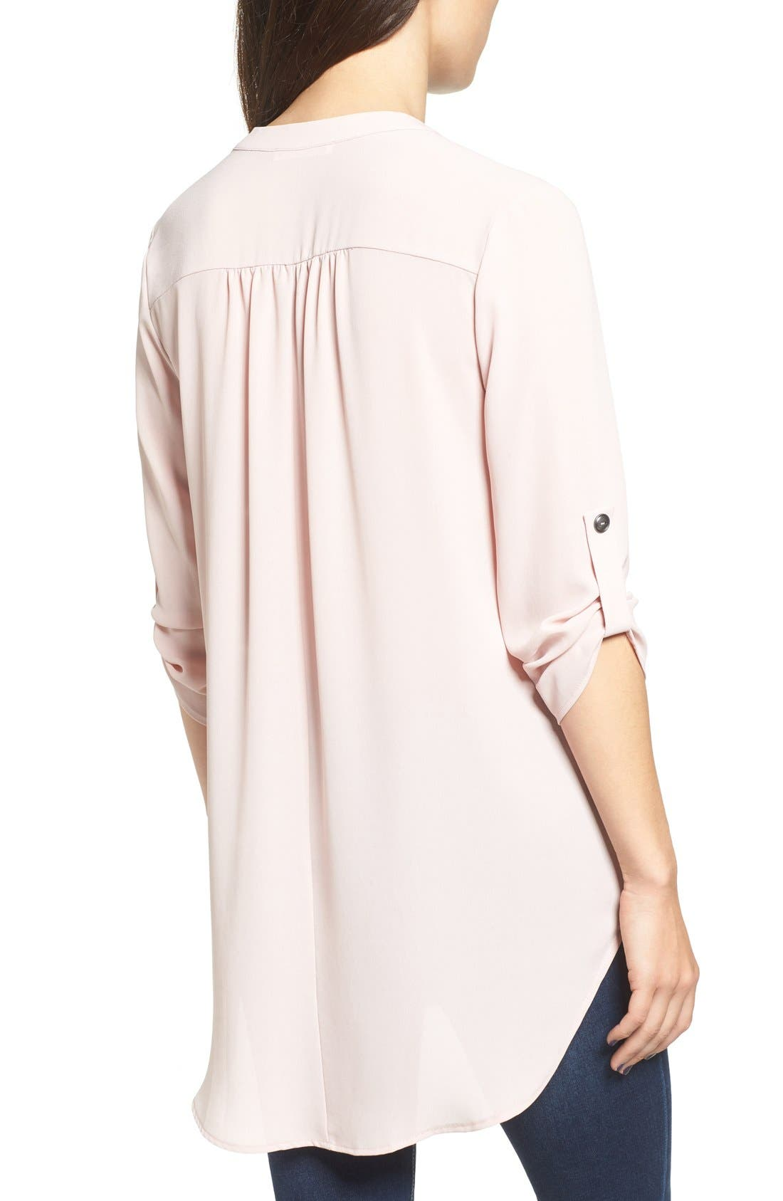,                             Perfect Roll Tab Sleeve Tunic,                             Alternate thumbnail 392, color,                             674