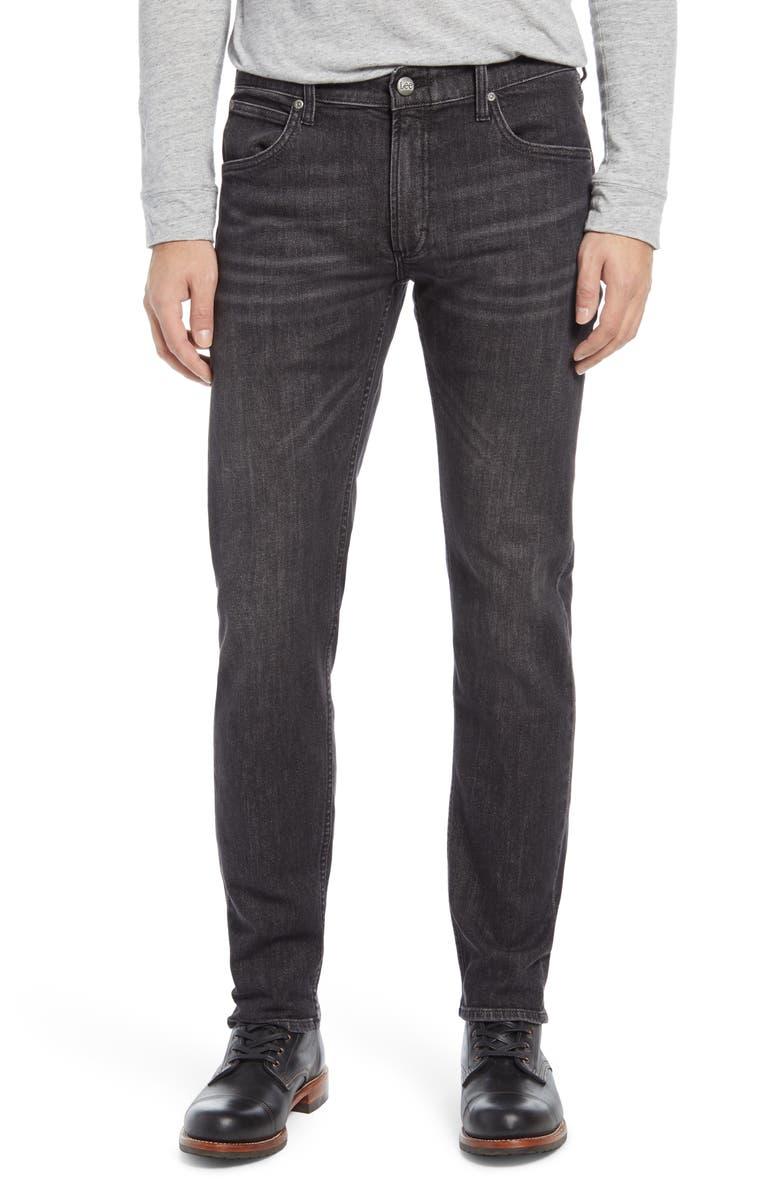 LEE Slim Straight Leg Jeans, Main, color, Black