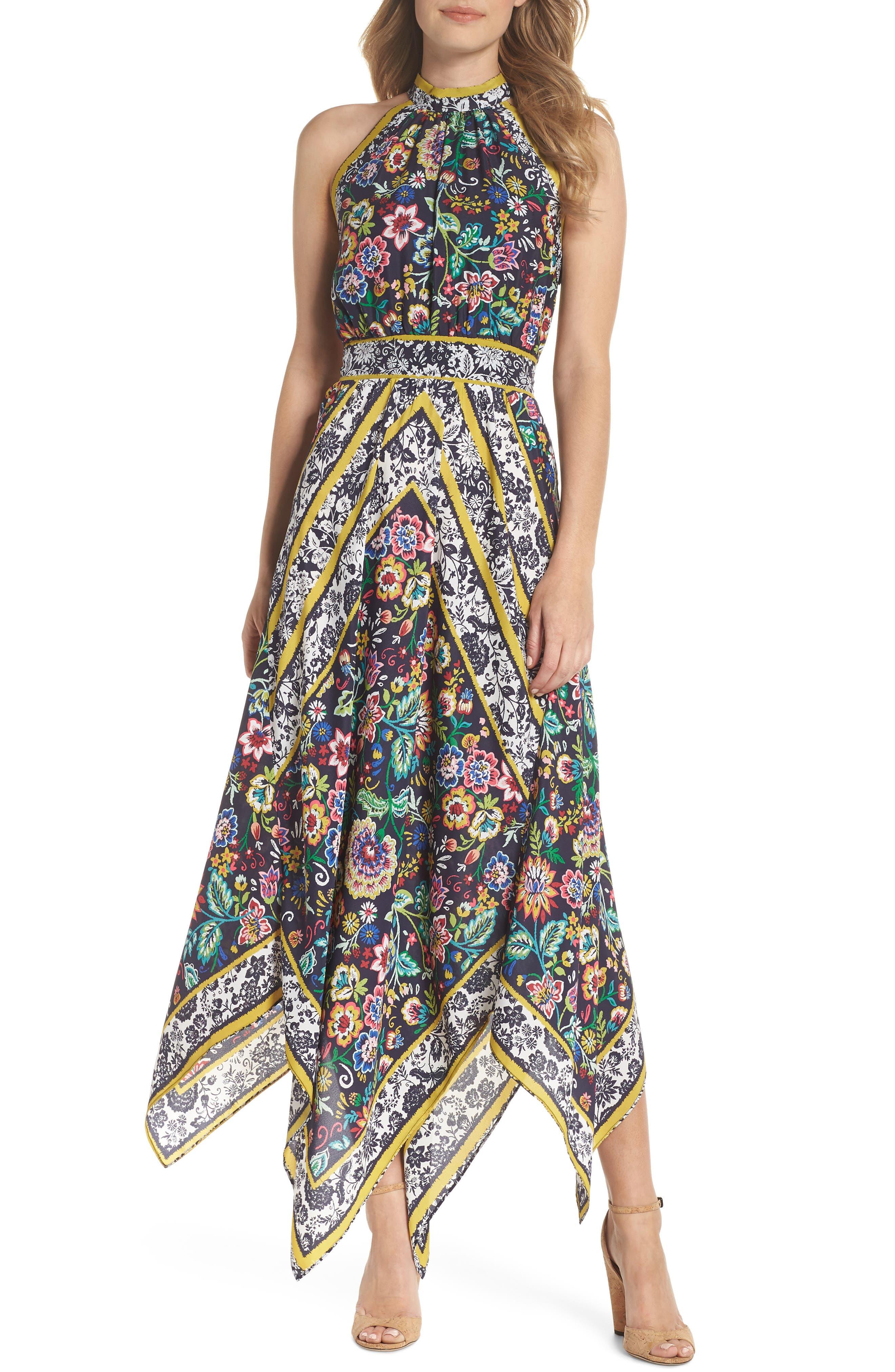 Eliza J Halter Handkerchief Dress