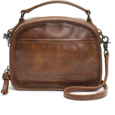 Frye Melissa Leather Crossbody Bag - Brown