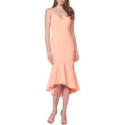Bardot Lisandra High/low Ruffle Dress, Pink