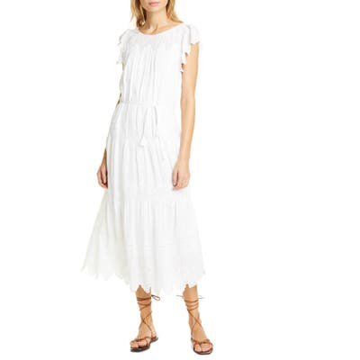 La Vie Rebecca Taylor Embroidered Voile Dress, White