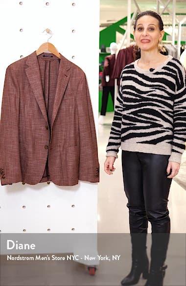 Informale Classic Fit Mélange Stretch Wool Sport Coat, sales video thumbnail