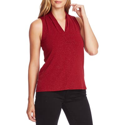 Vince Camuto Sleeveless Sparkle Jersey Top