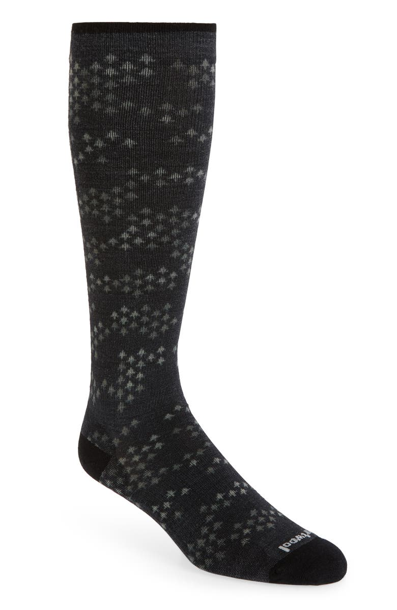 SMARTWOOL Making Tracks Compression Socks, Main, color, BLACK