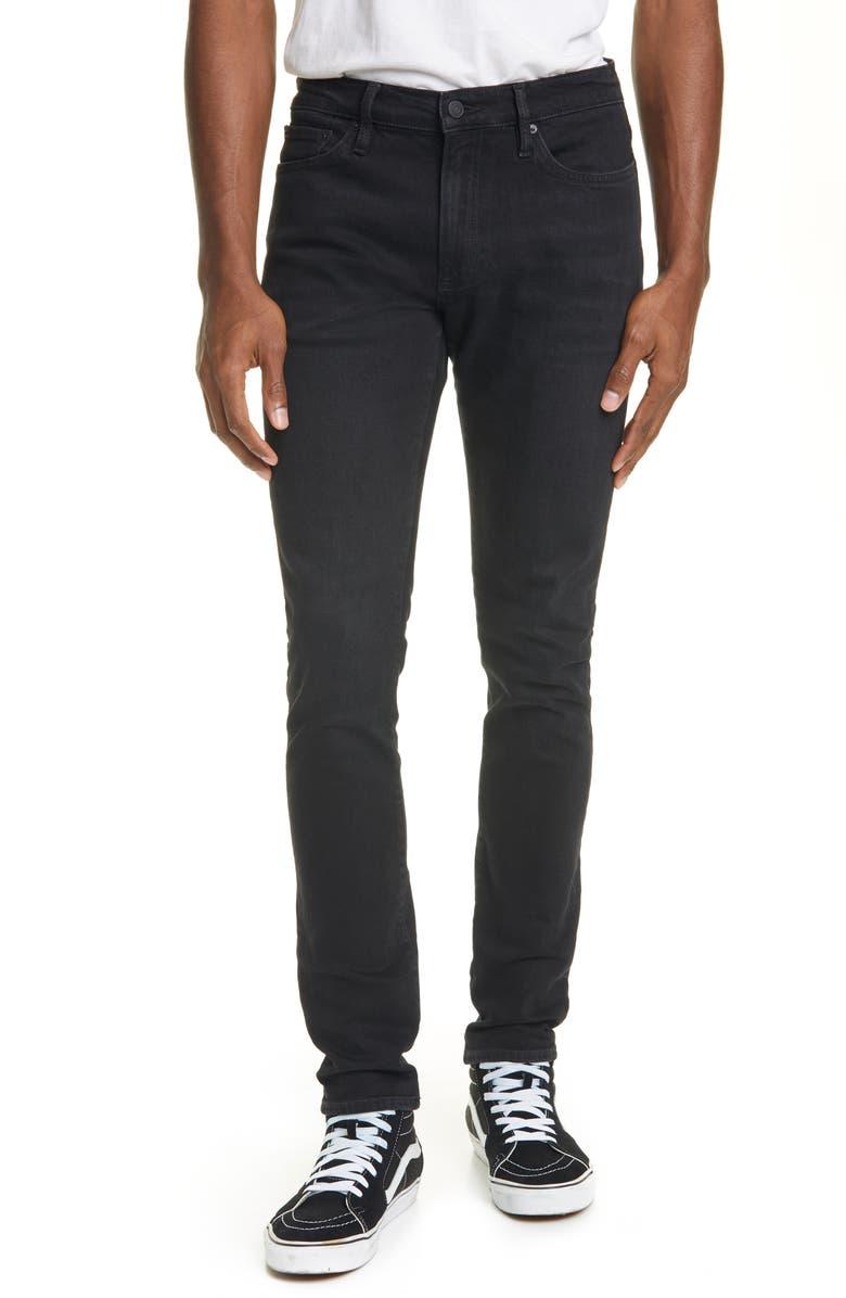 OVADIA Skinny Onyx Rise Jeans, Main, color, BLACK