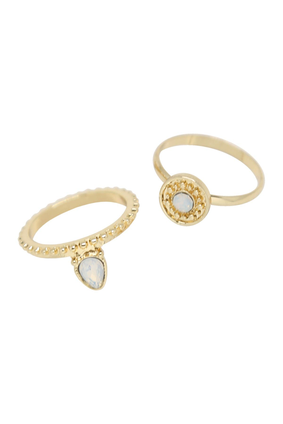 Image of Ettika Crystal Accent Ring - Set of 2