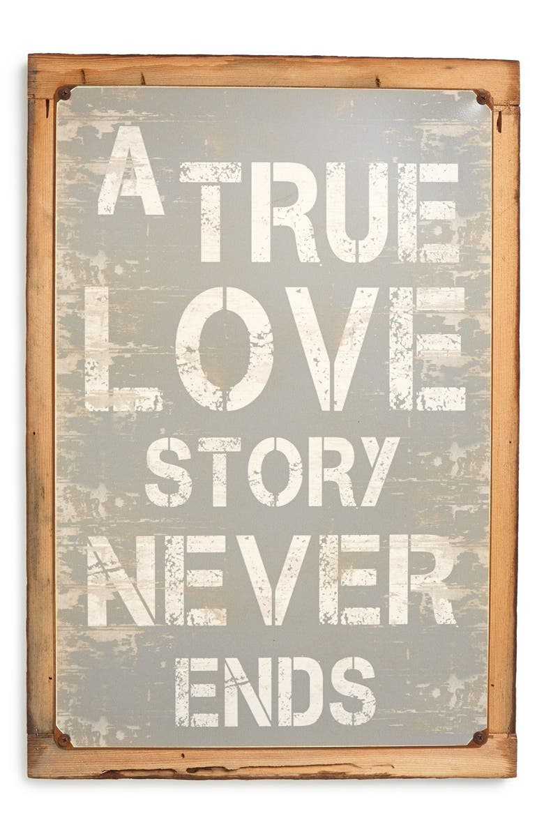 PONCHO & GOLDSTEIN 'True Love Story' Sign, Main, color, 020