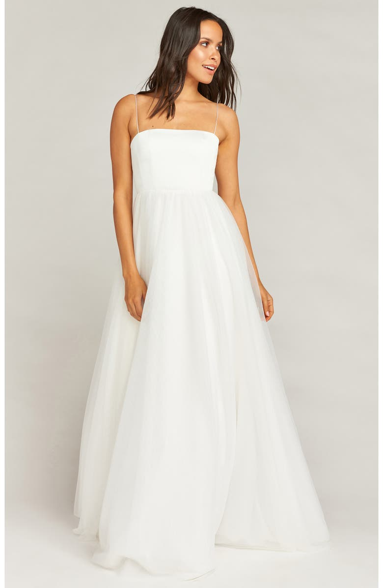 SHOW ME YOUR MUMU Palace Tulle Wedding Dress, Main, color, WHITE