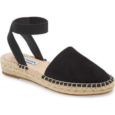 Steve Madden Merlene Ankle Strap Espadrille, Black