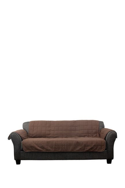 Image of Duck River Textile Joseph Flannel Reversible Waterproof Microfiber Sofa Cover - Chocolate/Taupe