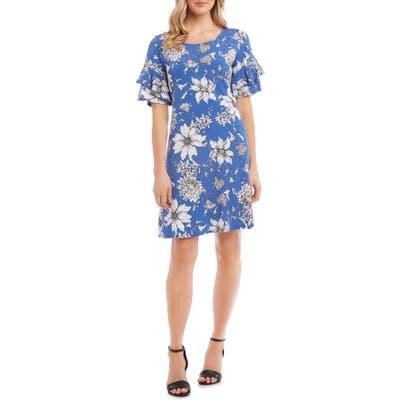 Karen Kane Ruffle Sleeve Dress, Blue