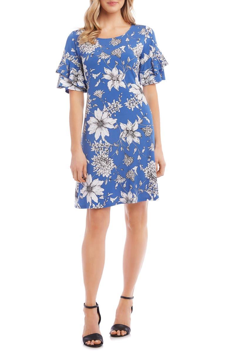 KAREN KANE Ruffle Sleeve Dress, Main, color, 400