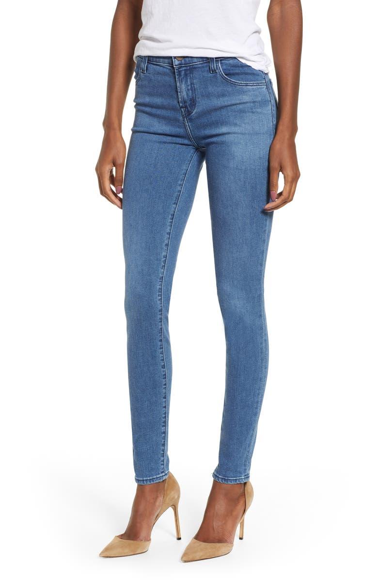 J BRAND Maria High Waist Skinny Jeans, Main, color, 400