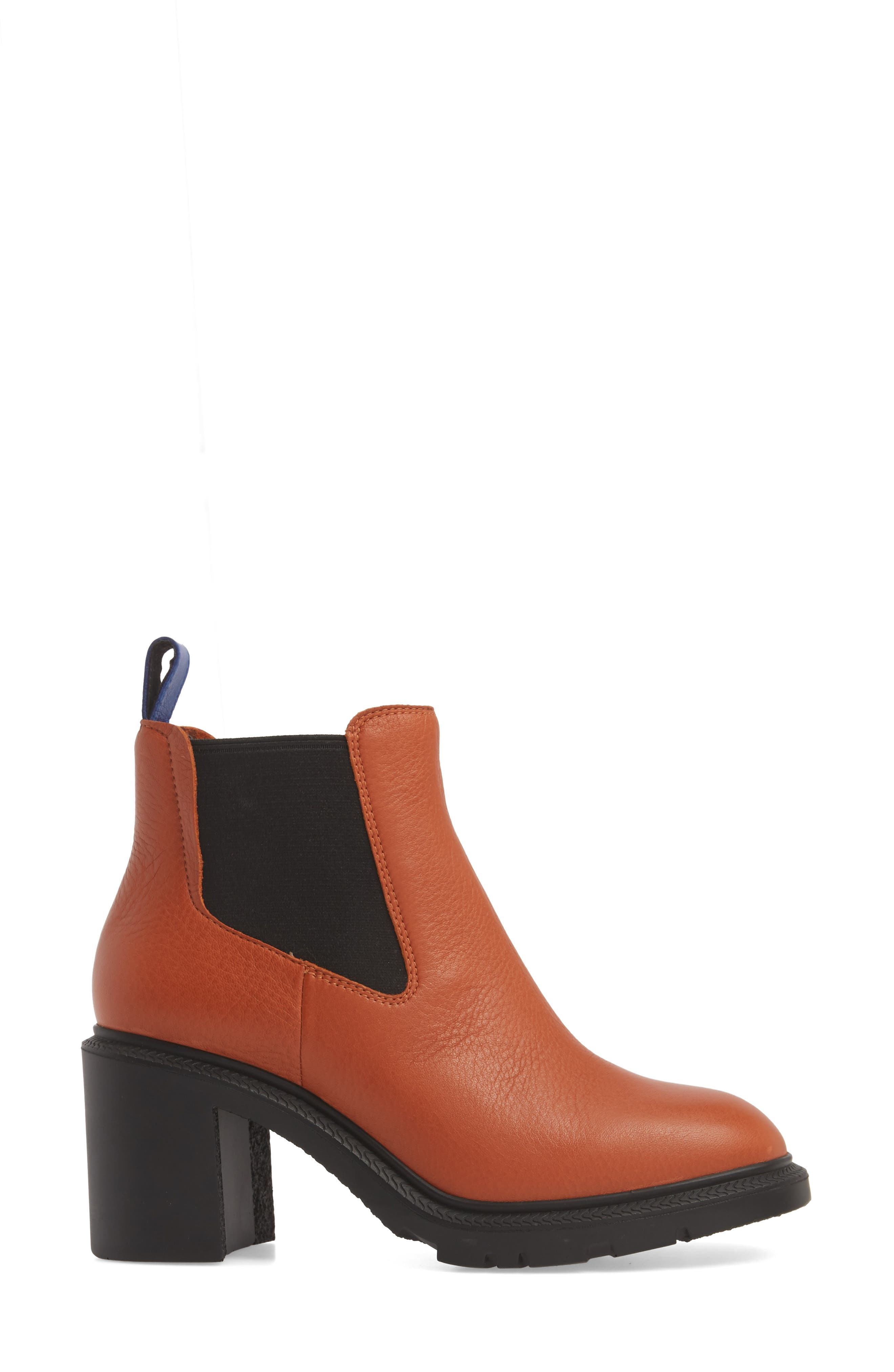 ,                             Whitnee Bootie,                             Alternate thumbnail 3, color,                             RUST COPPER LEATHER/ BLACK