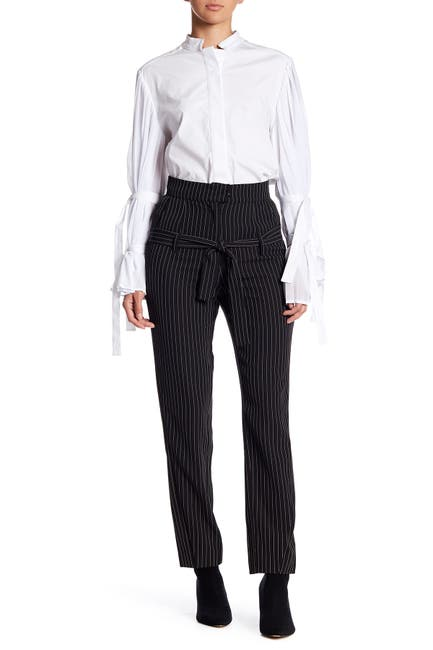 Image of TOV Striped Highwaisted Trousers