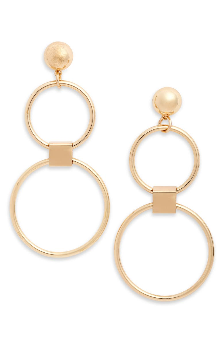 MAD JEWELS Westbend Drop Earrings, Main, color, GOLD