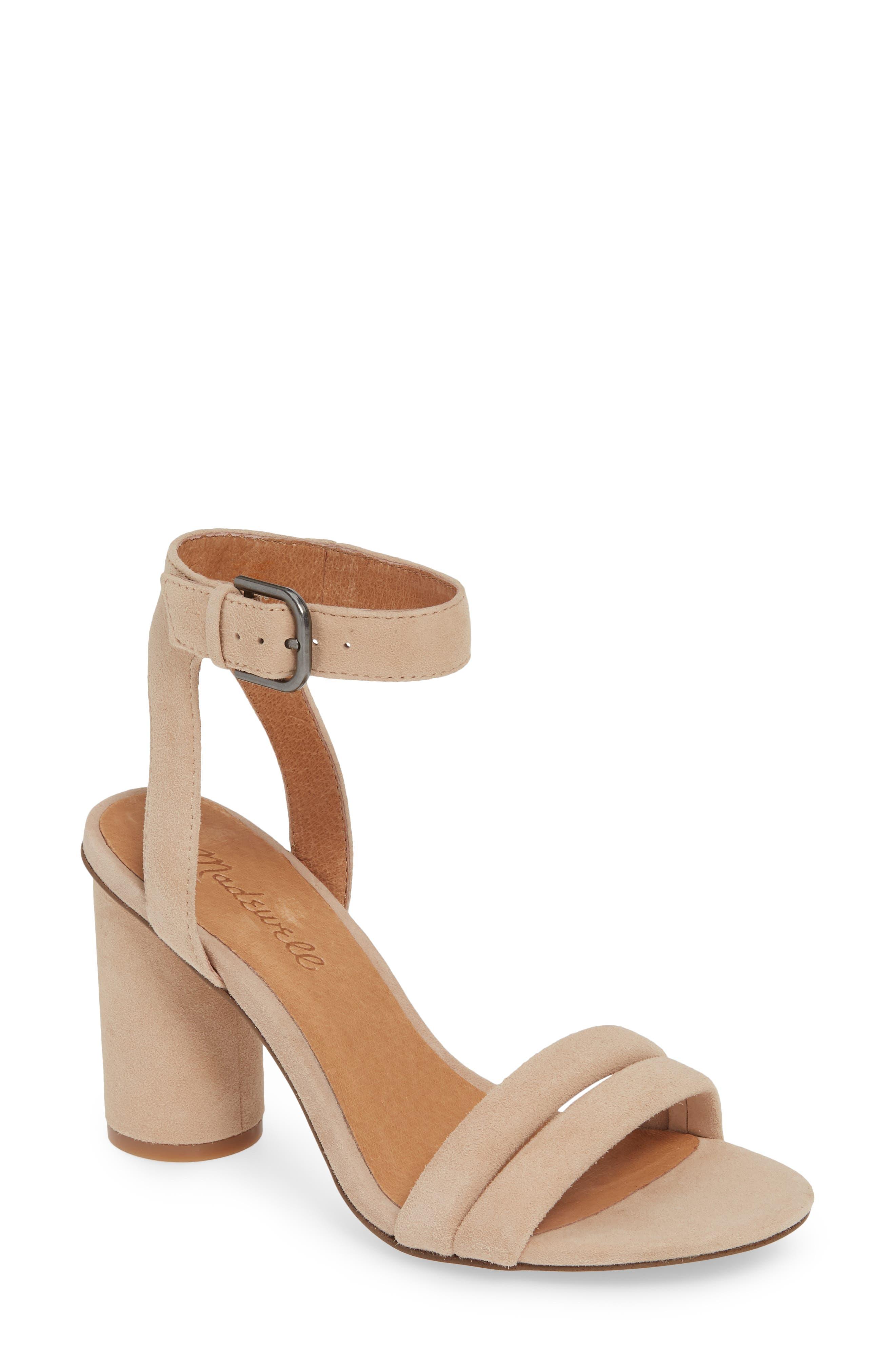 Madewell The Rosalie High Heel Sandal, Beige