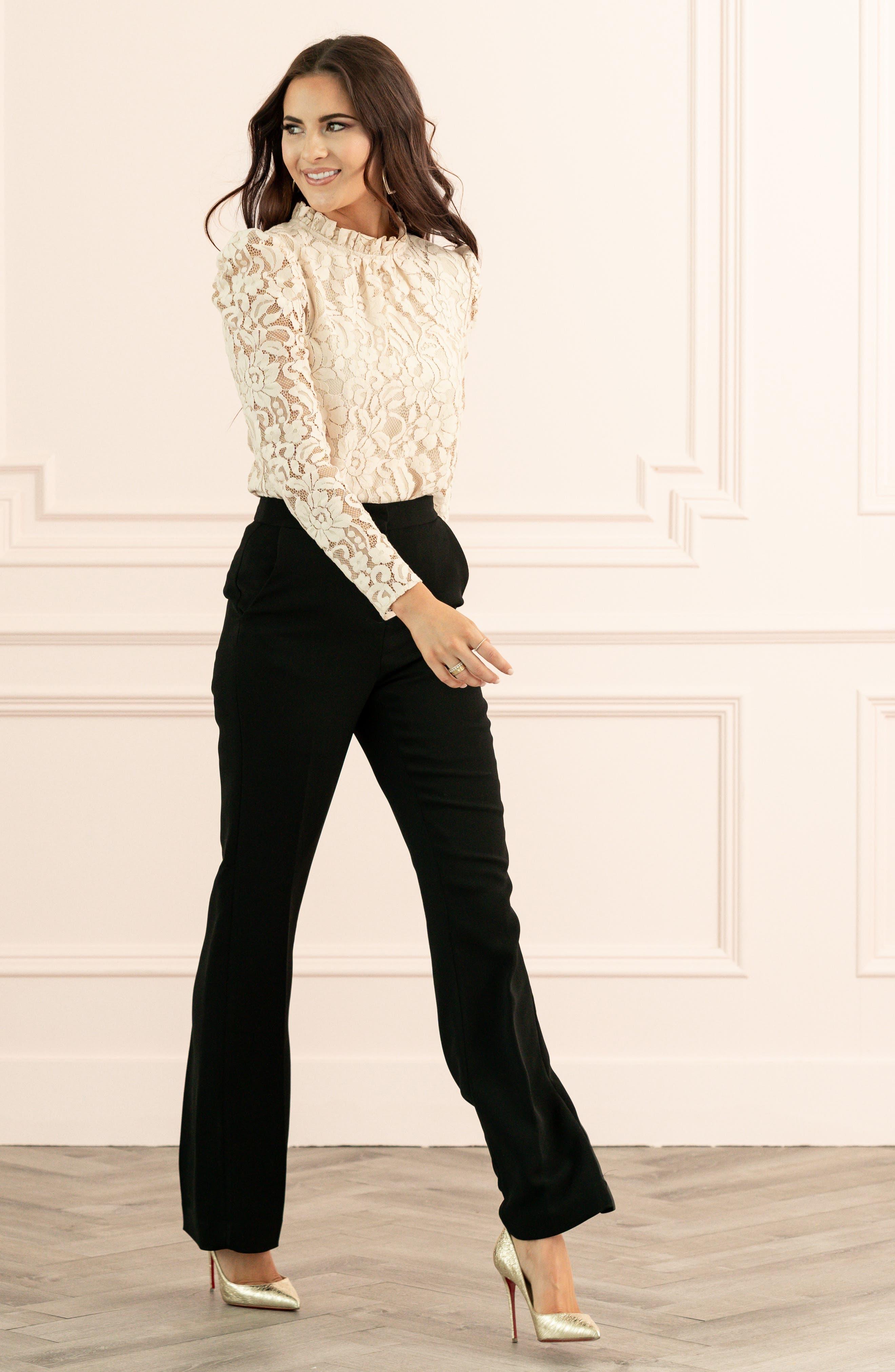 Rachel Parcell Wide Leg Suit Pants (Nordstrom Exclusive)