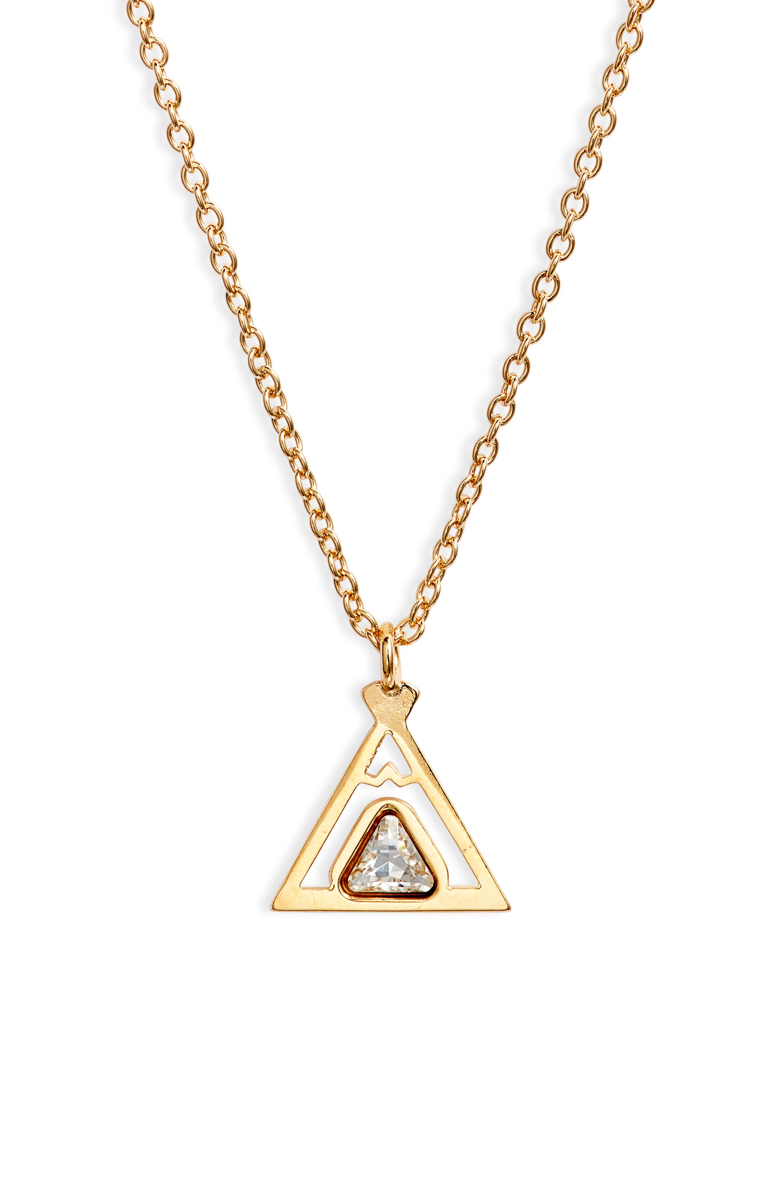 Triangle Friendship Pendant Necklace in Silver at Nordstrom