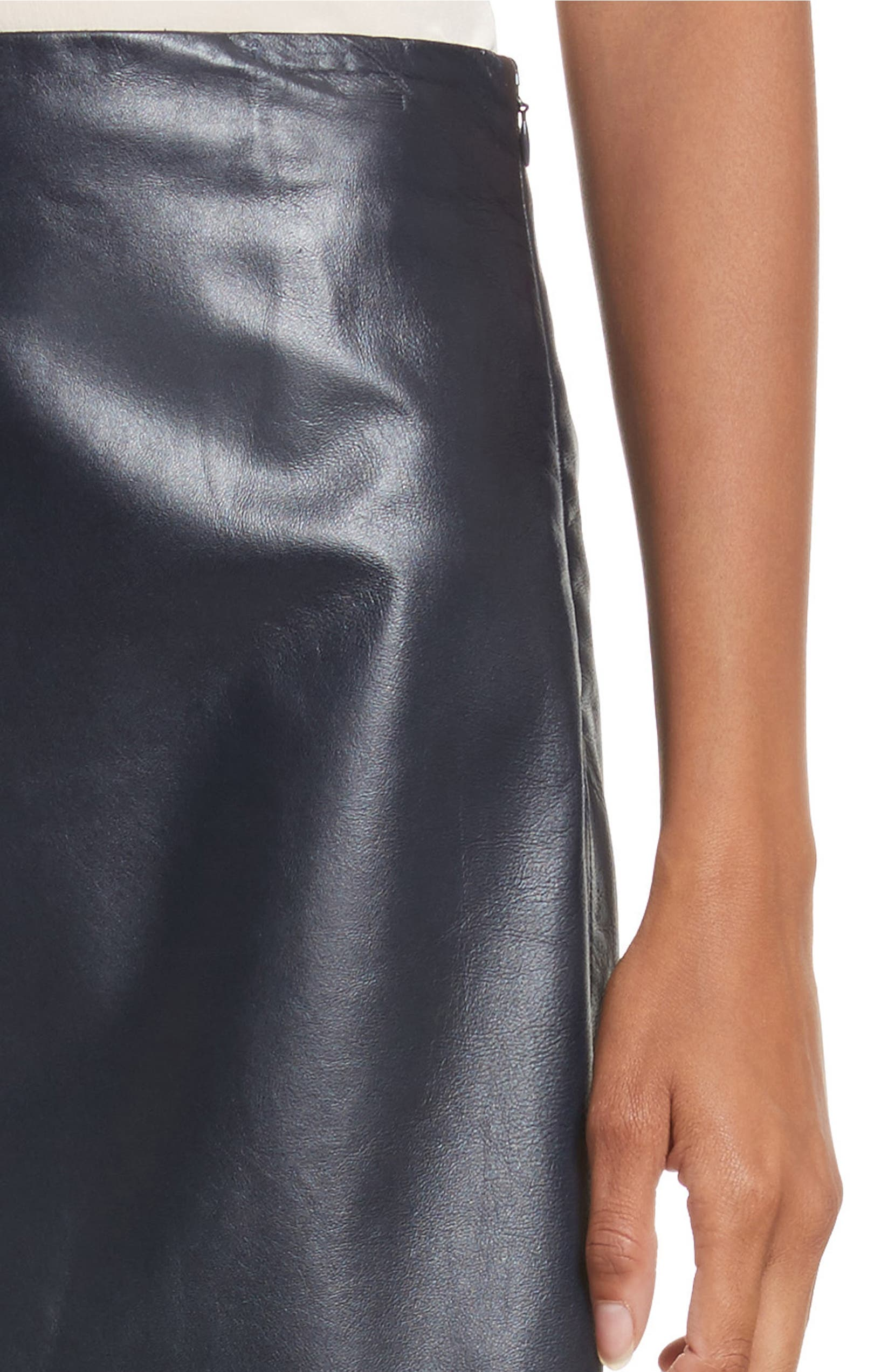 3d912ea25 Theory Micro Mini Paper Leather Skirt | Nordstrom
