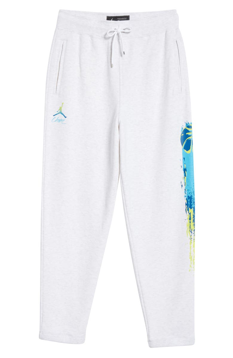 JORDAN NRG Men's Basketball Logo Fleece Sweatpants, Main, color, BIRCH HEATHER