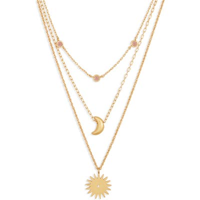 Madewell Set Of 3 Sun & Moon Necklaces