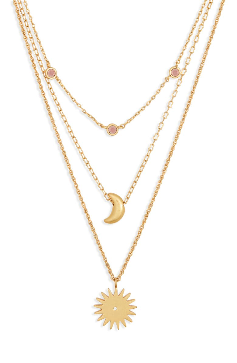 MADEWELL Set of 3 Sun & Moon Necklaces, Main, color, 710