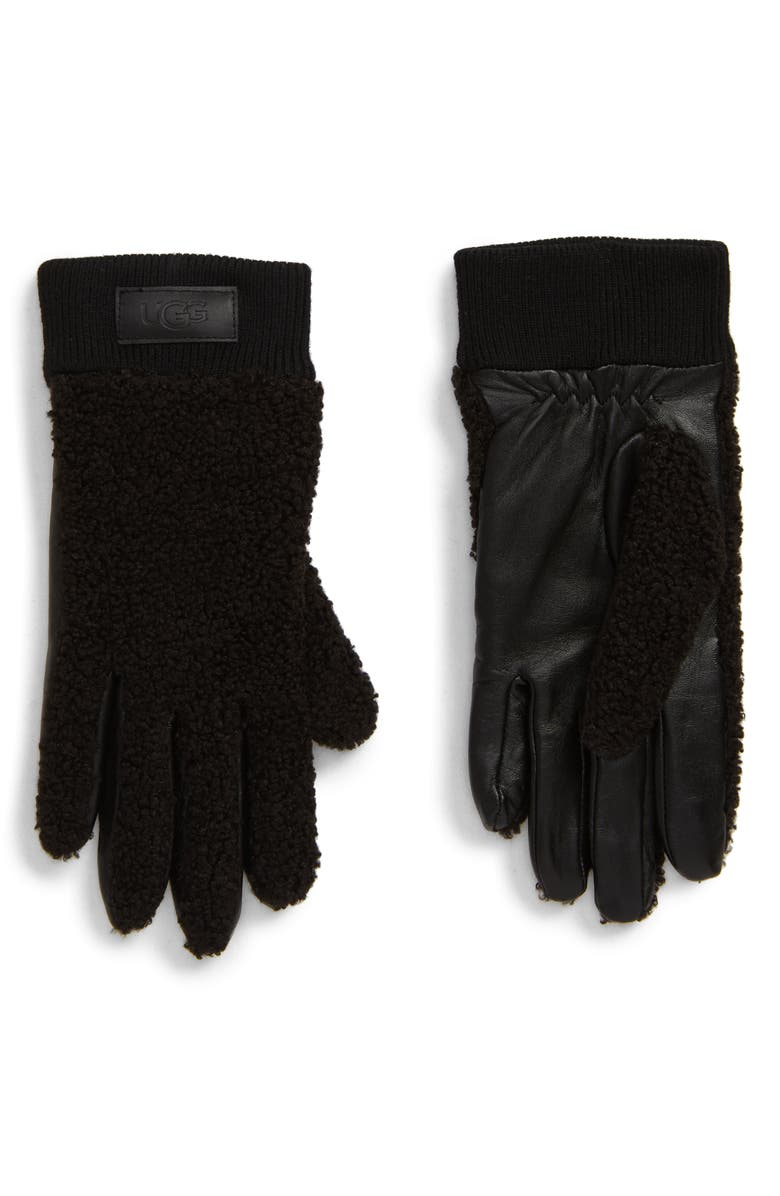 UGG<SUP>®</SUP> Touchscreen Compatible Gloves, Main, color, BLACK