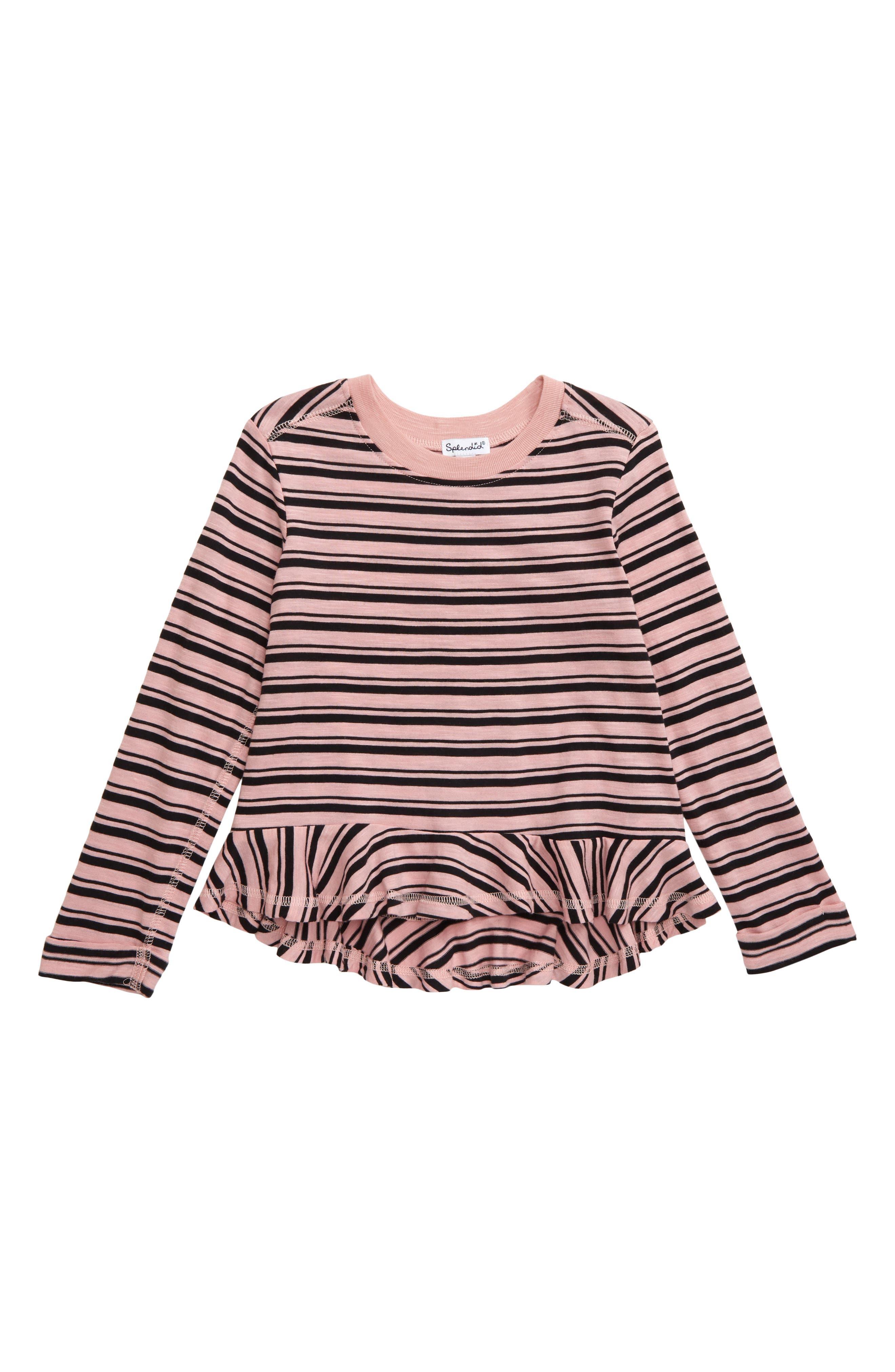 Toddler Girls Splendid Stripe Tee Size 4T  Pink