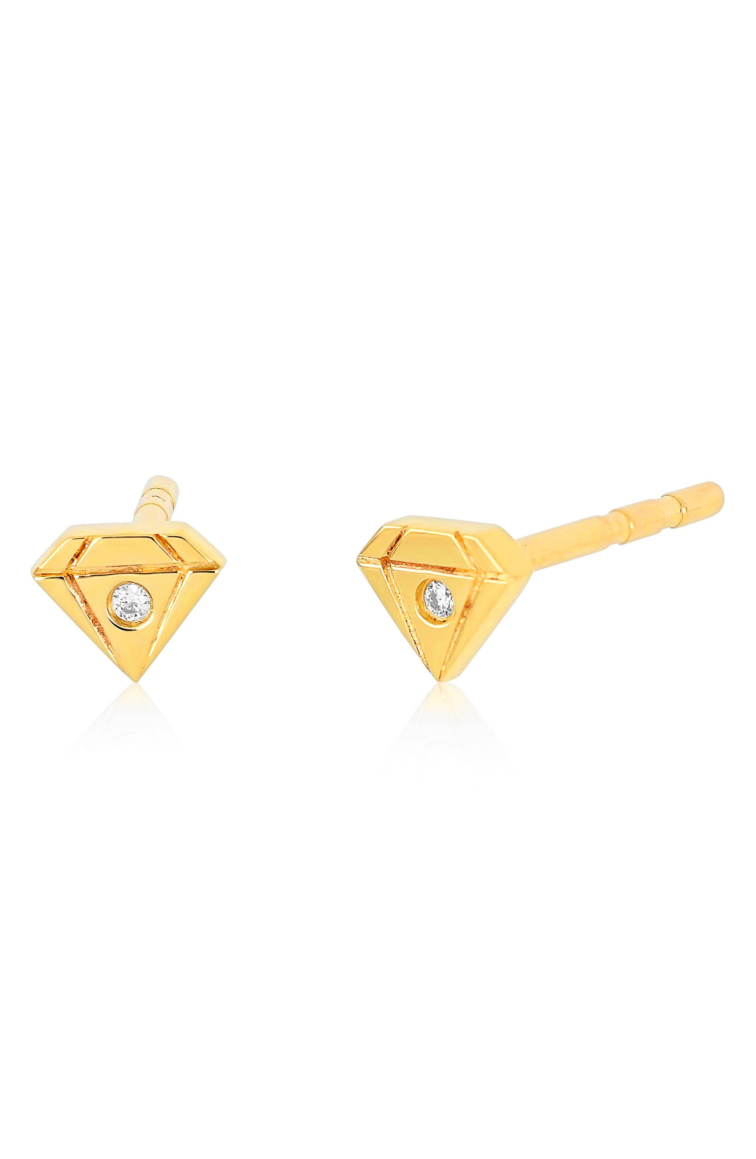 Single Diamond Stud Earring