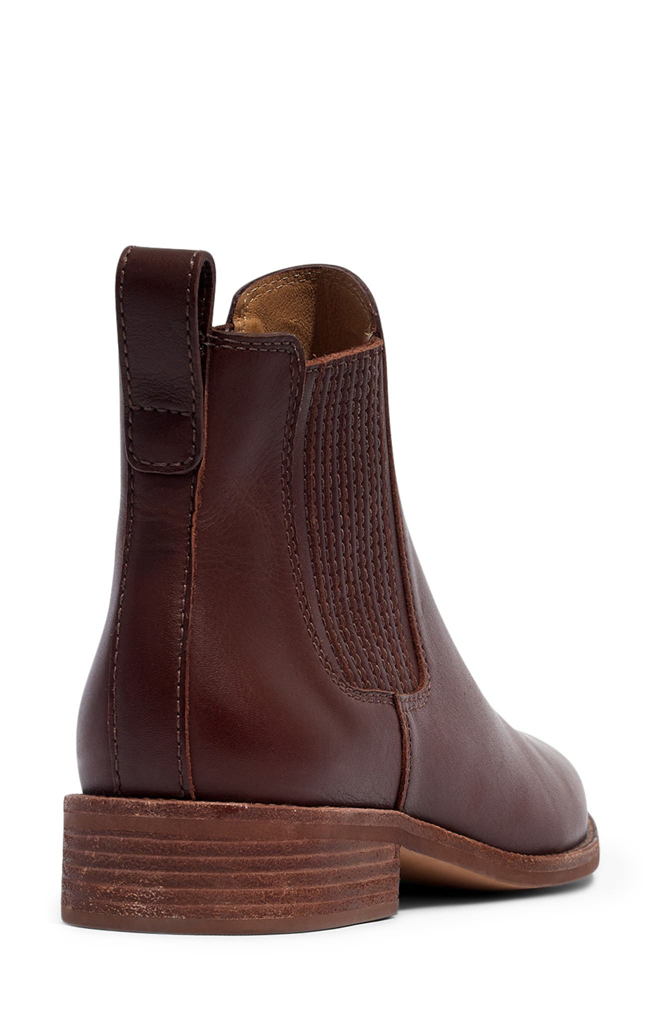 ,                             The Ainsley Chelsea Boot,                             Alternate thumbnail 4, color,                             RICH BROWN LEATHER