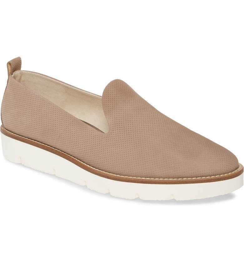 PAUL GREEN Bahama Perforated Slip-On Sneaker, Main, color, TRUFFLE NUBUK