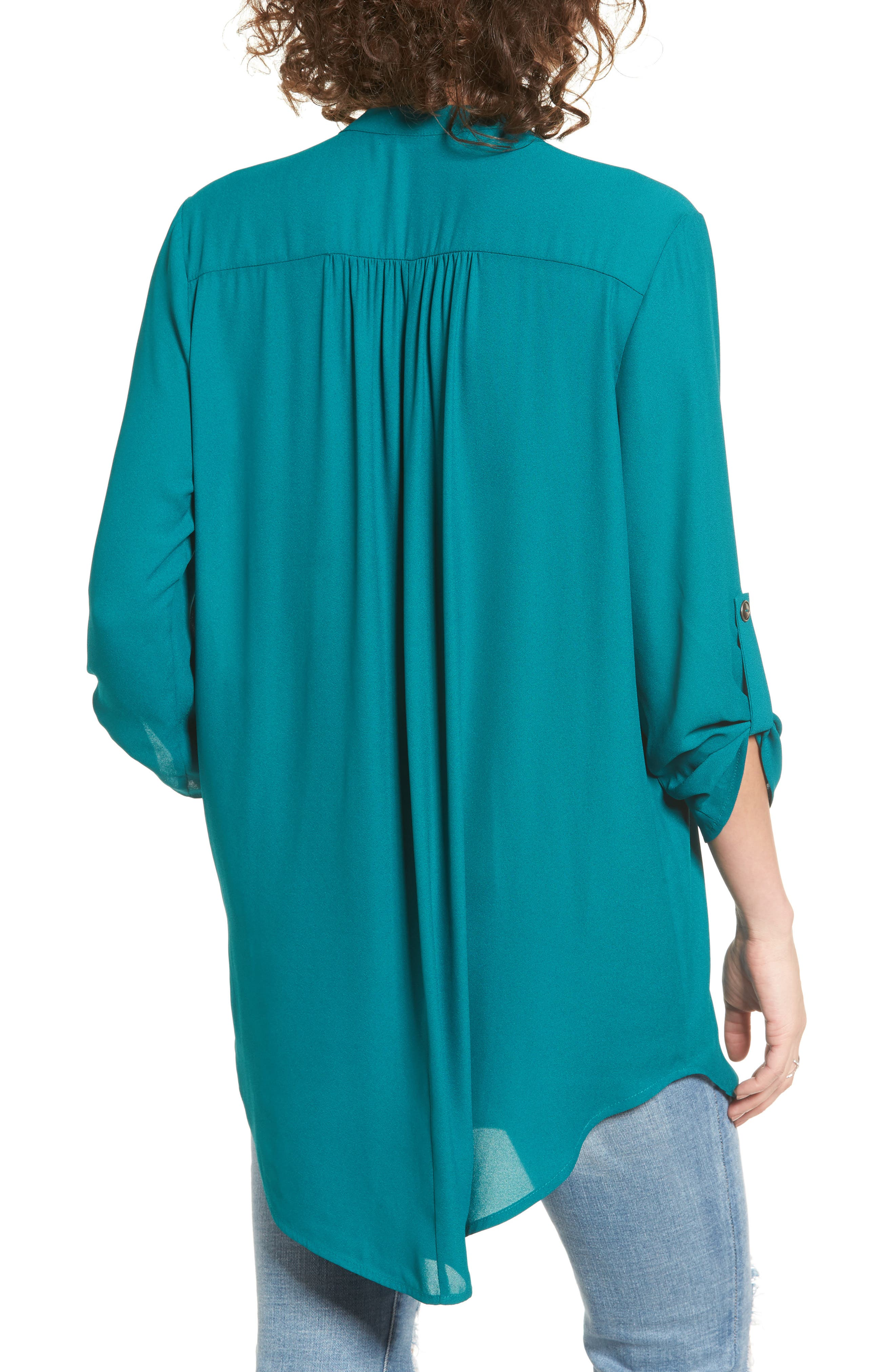 ,                             Perfect Roll Tab Sleeve Tunic,                             Alternate thumbnail 250, color,                             357