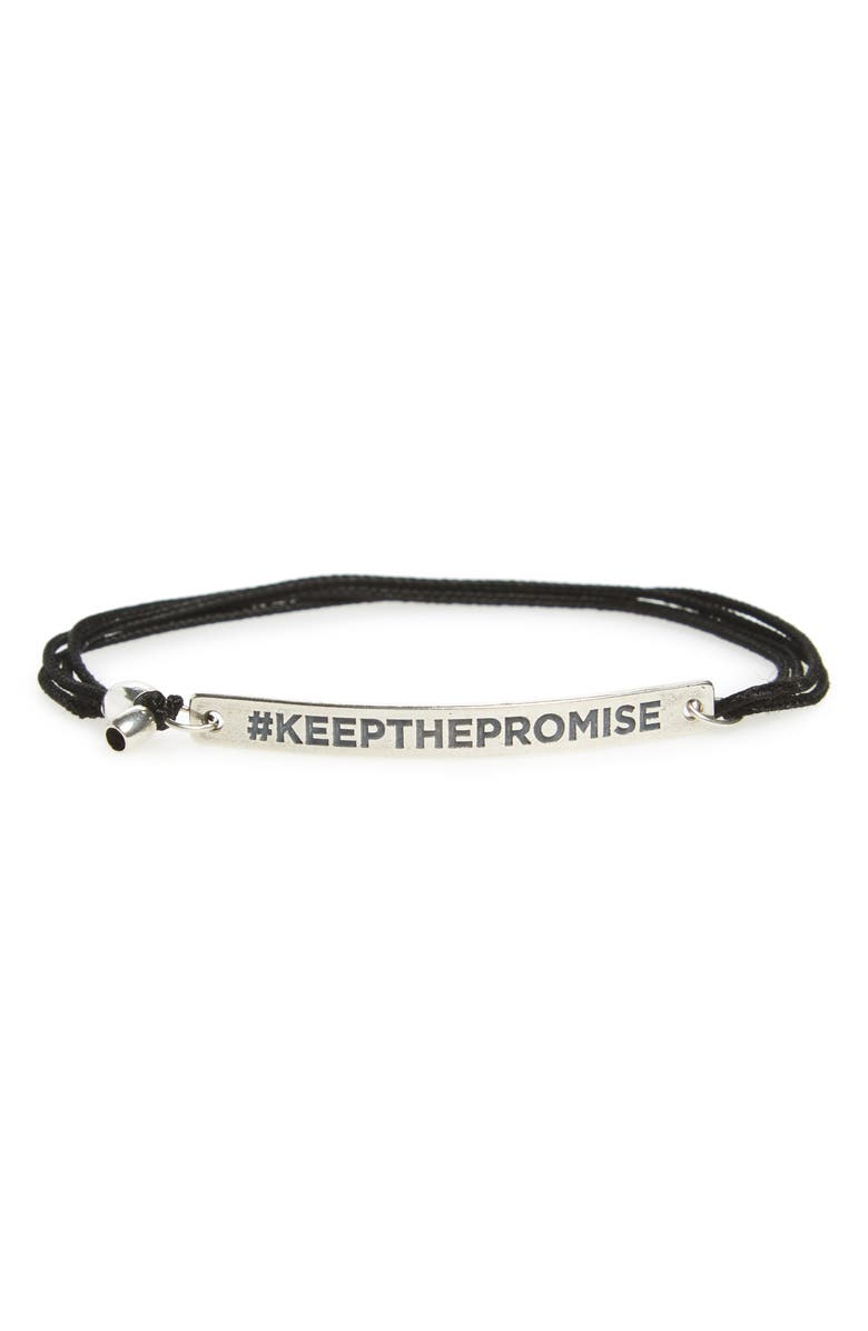ALEX AND ANI Keep the Promise Pull Cord Bracelet, Main, color, 040