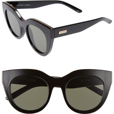 Le Specs Air Heart 51Mm Sunglasses - Black/ Gold