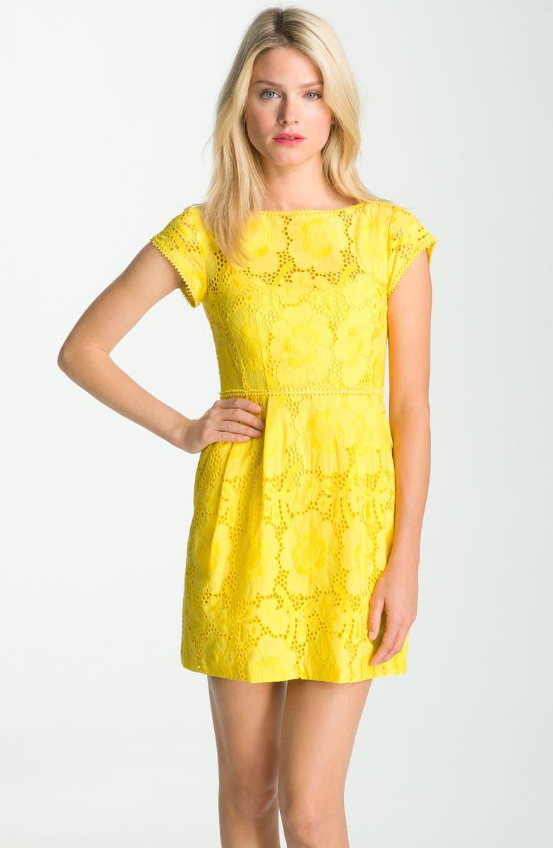 NANETTE LEPORE 'Vamos' Floral Eyelet Dress, Main, color, 700