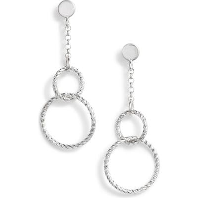 Karen London Juli Textured Hoop Drop Earrings