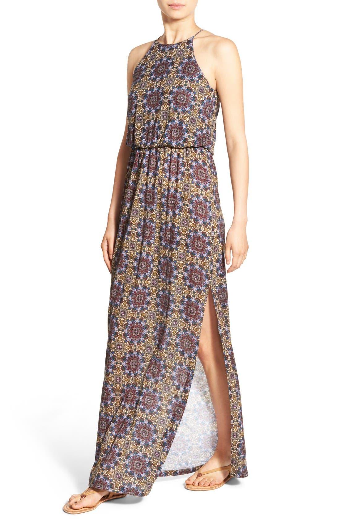 ,                             High Neck Maxi Dress,                             Alternate thumbnail 82, color,                             300