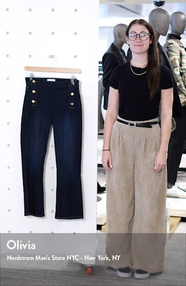 Le Crop Mini Boot Button Waist Jeans, sales video thumbnail