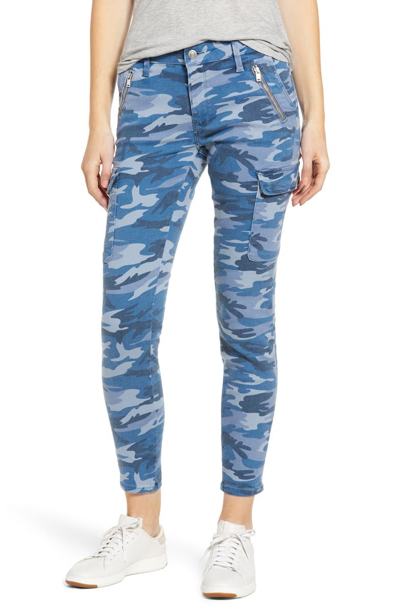 MAVI JEANS Juliette Skinny Camo Denim Pants, Main, color, BLUE CAMO