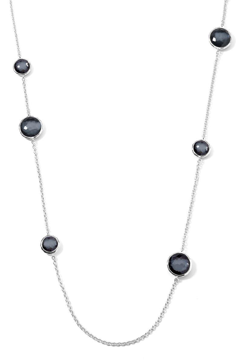 IPPOLITA 'Wonderland - Lollipop' Long Station Necklace, Main, color, SILVER/ HEMATITE