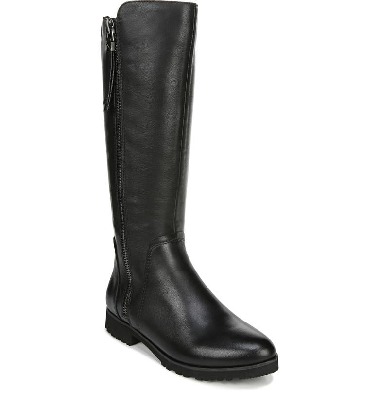 NATURALIZER Gael Knee High Boot, Main, color, BLACK LEATHER