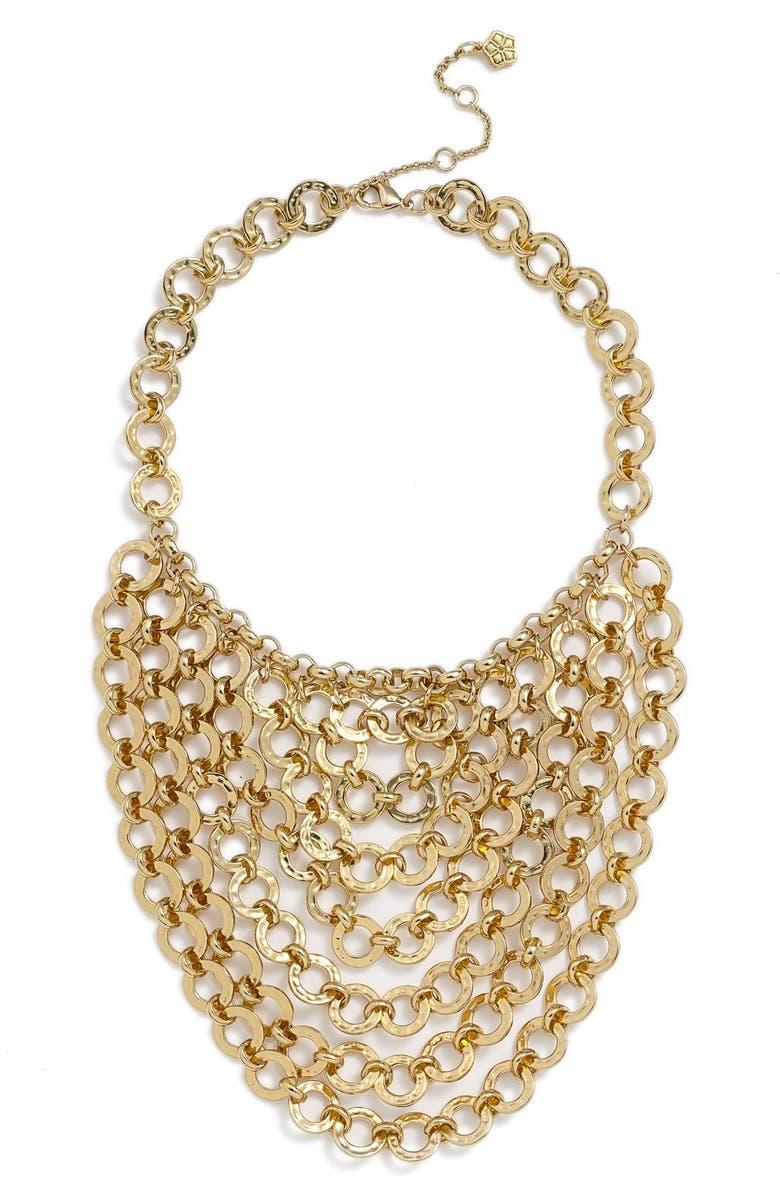 TRINA TURK Chain Bib Necklace, Main, color, 710