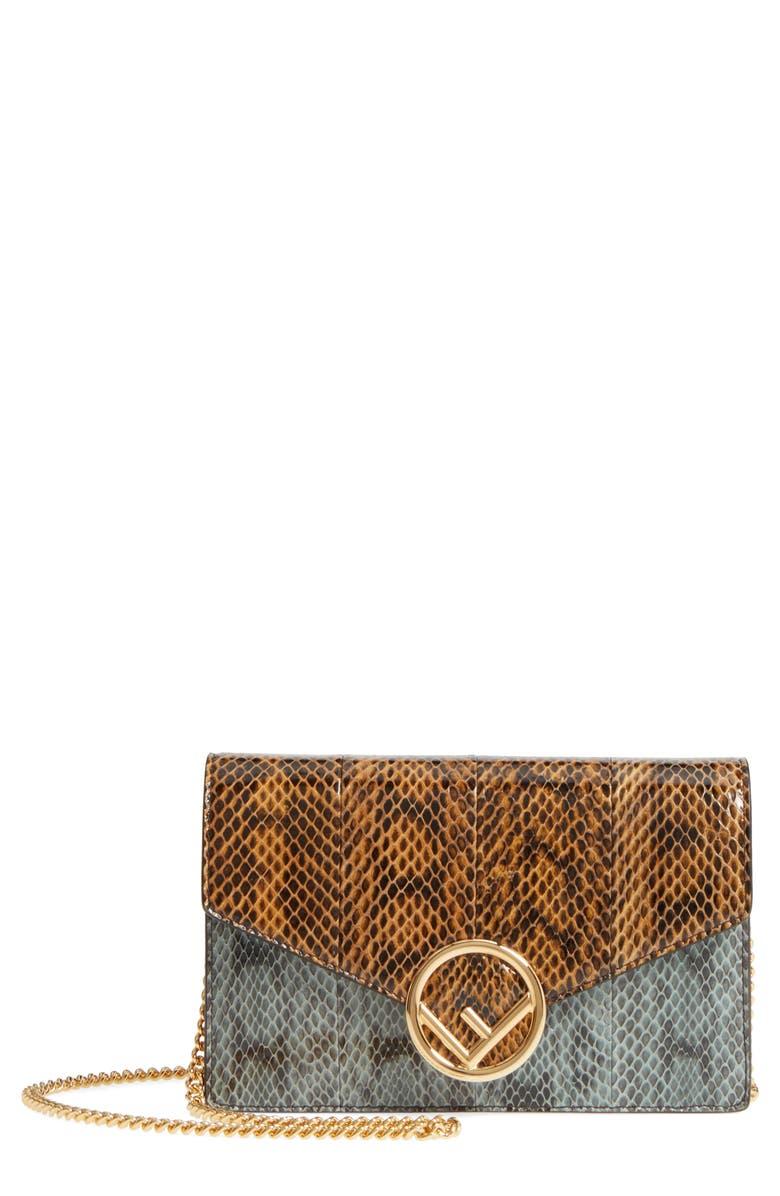 Fendi Genuine Snakeskin Wallet On A Chain