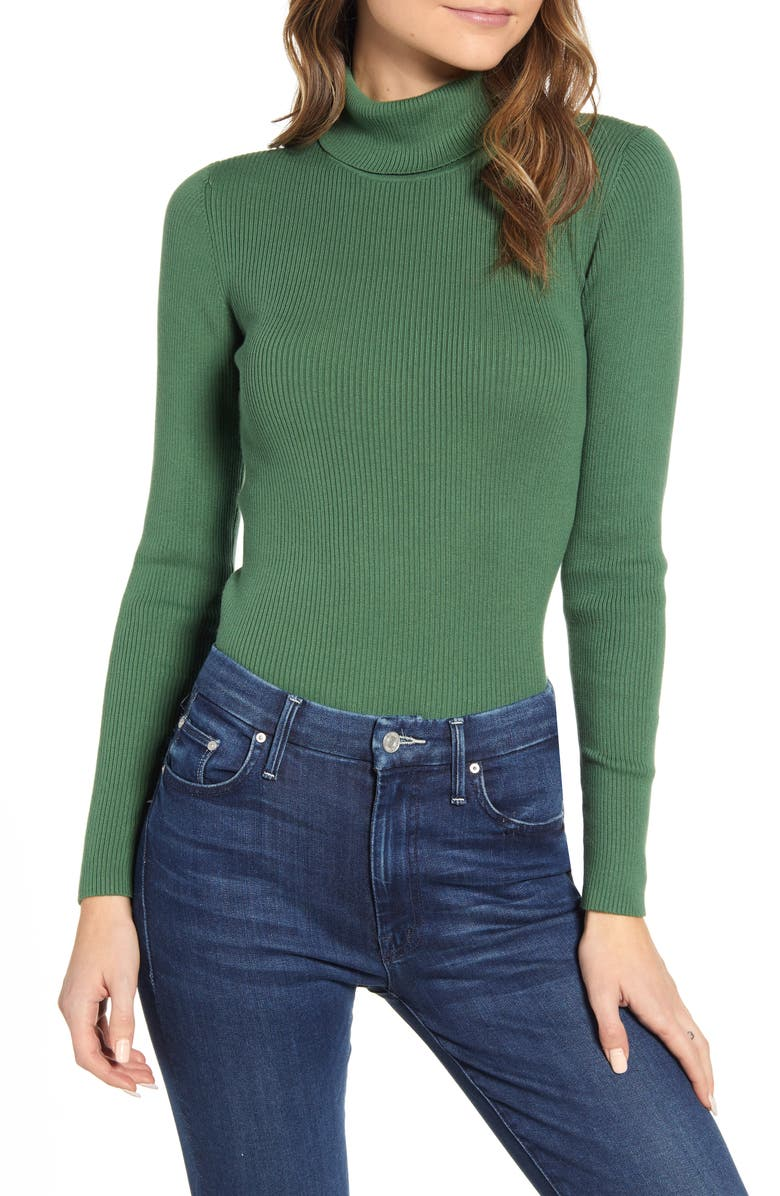 BODEN Tilly Turtleneck Sweater, Main, color, BROAD BEAN