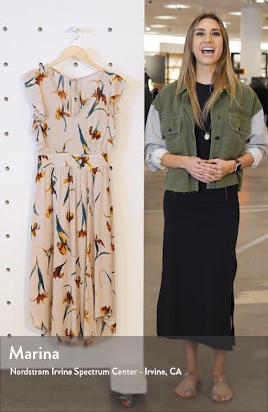 Amberlynn Flutter Sleeve Midi Dress, sales video thumbnail